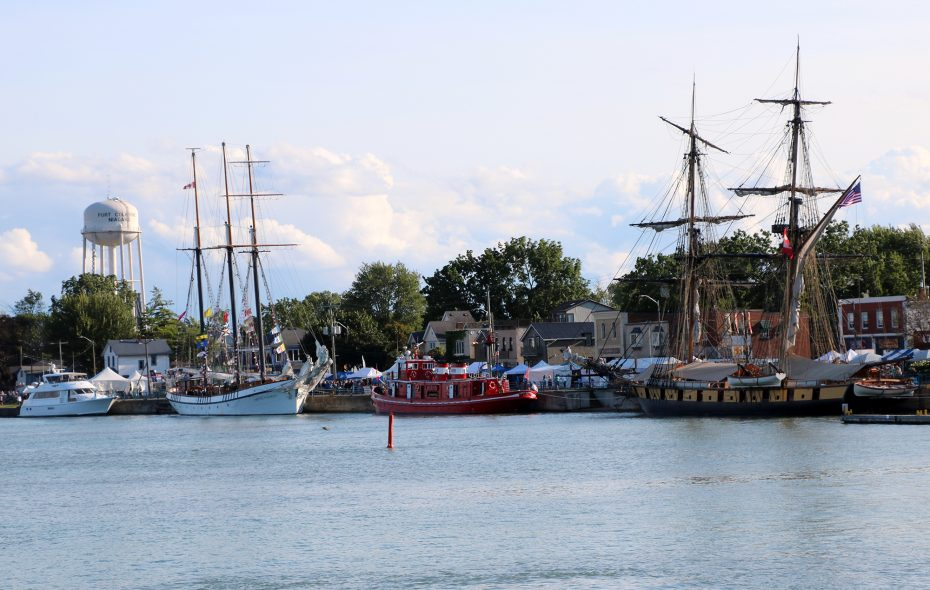 Tall ships arrive in Port Colborne during its Canal Days Festival. (City of Port Colborne)