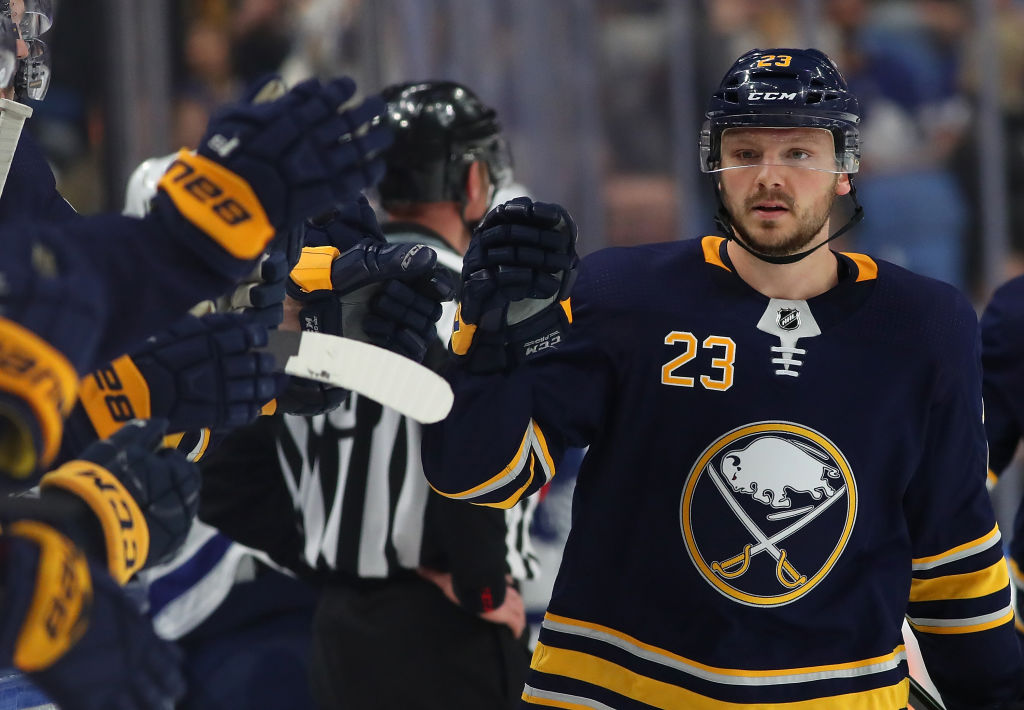 Sam Reinhart continues to wait on his new deal with the Sabres (Getty Images).