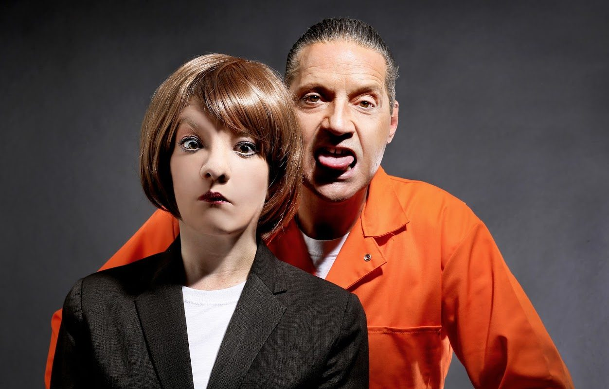 Maria Droz and Jimmy Janowski are a great comedy duo as Clarice Starling and Hannibal Lecter in the 'Silence of the Lambs' spoof 'Silence! The Musical' presented by Buffalo United Artists. (Photo by Cheryl Gorski)