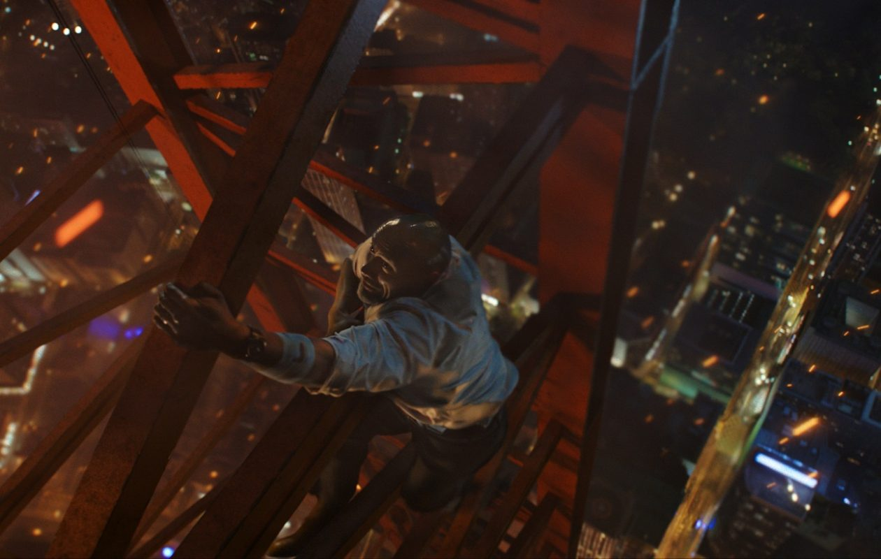 Dwayne Johnson goes to great heights to save his family in 'Skyscraper.' (Universal Pictures)