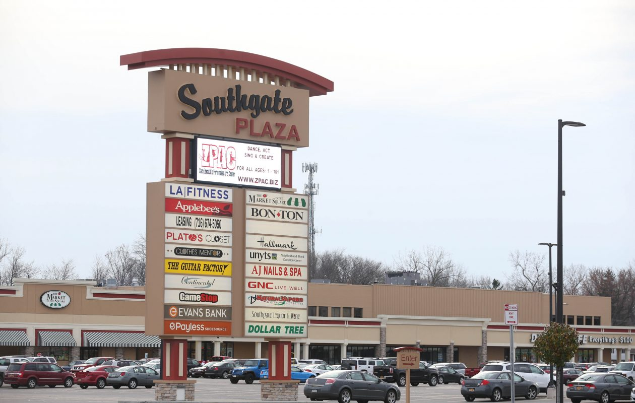 The bankruptcy and closure of Pennsylvania-based Bon-Ton left Southgate Plaza with an empty big-box store in a prominent part of the 32.9-acre plaza in West Seneca. (Sharon Cantillon/News file photo)
