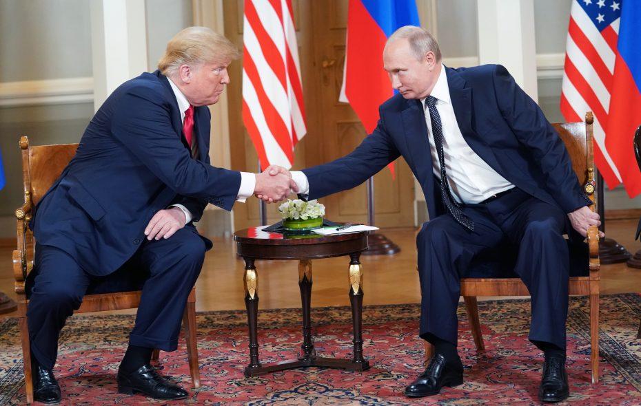 President Trump meets with President Vladimir Putin of Russia in Helsinki, Finland, on Monday, July 16, 2018. (Doug Mills/New York Times)