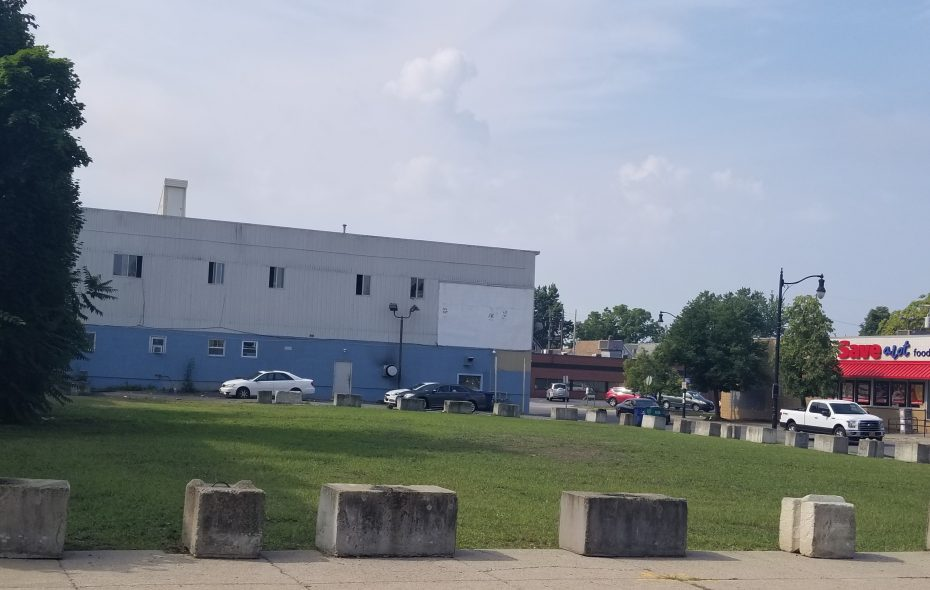 """This cleaned-up property at 161 Grant St. is one of five former """"zombie"""" gas station sites in Erie County owned by United Refining."""