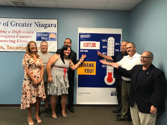 United Way of Greater Niagara leaders present their 2018 fundraising goal. (Contributed photo)
