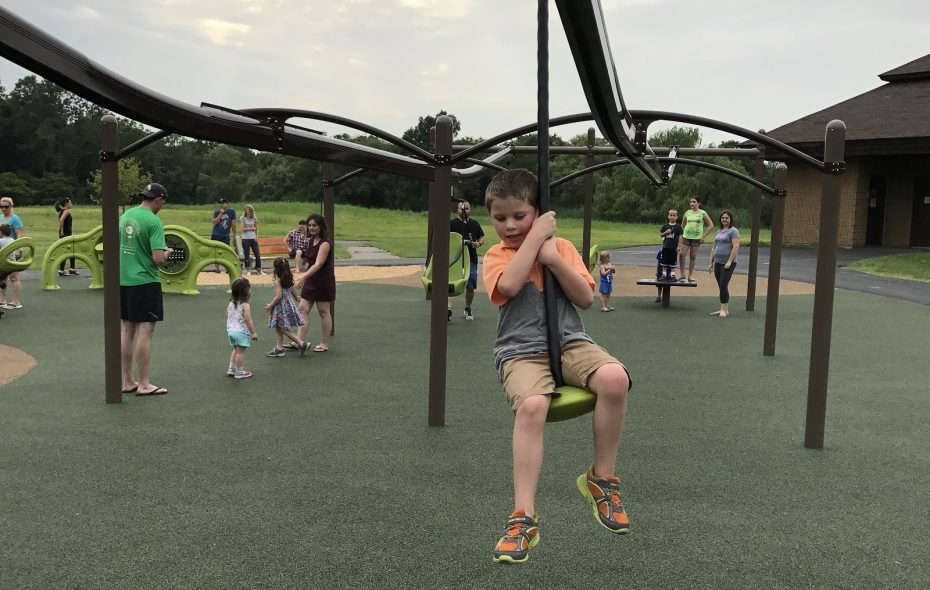 The Billy Wilson Playground has a variety of play options including two zip lines. (Christopher Schobert/Special to The News)