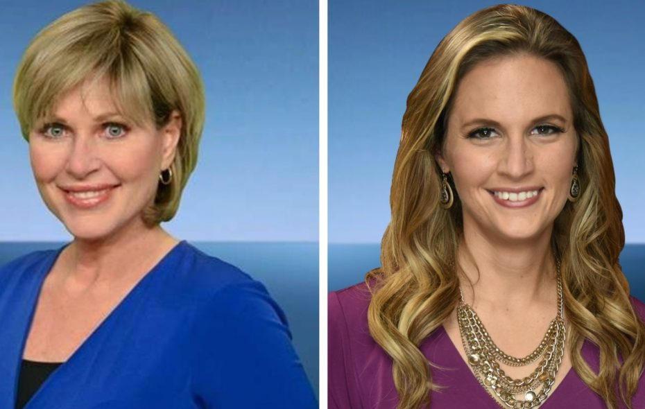 Maria Genero, left, and Heather Waldman are the faces of Channel 2's evening weather segments. (via WGRZ)