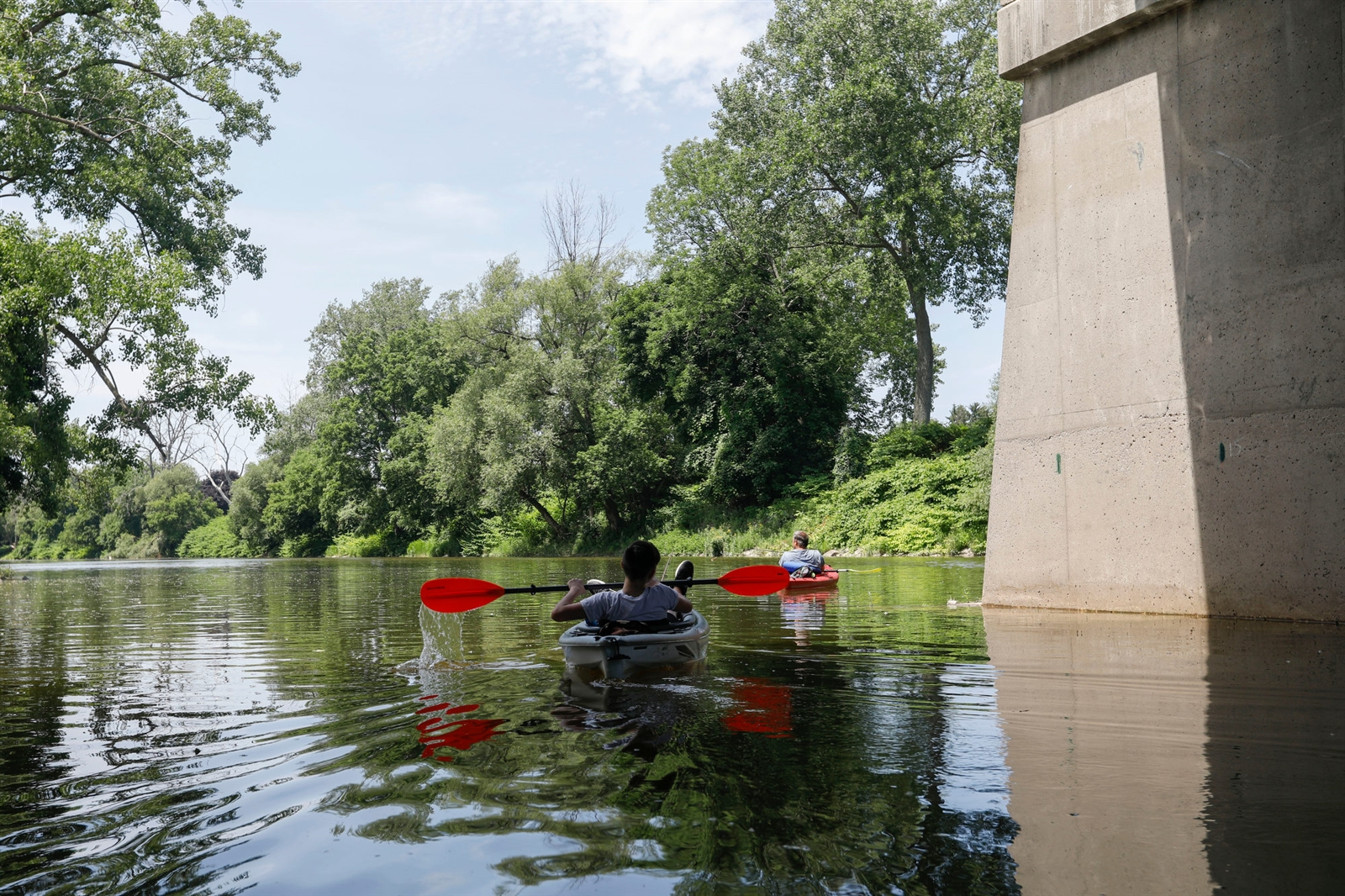 The Buffalo River Urban Canoe Trail spans from Harlem Road in West Seneca to the Buffalo Lighthouse where the river flows into Lake Erie, where paddlers can experience nature, history, industry and urban renewal in one epic journey.