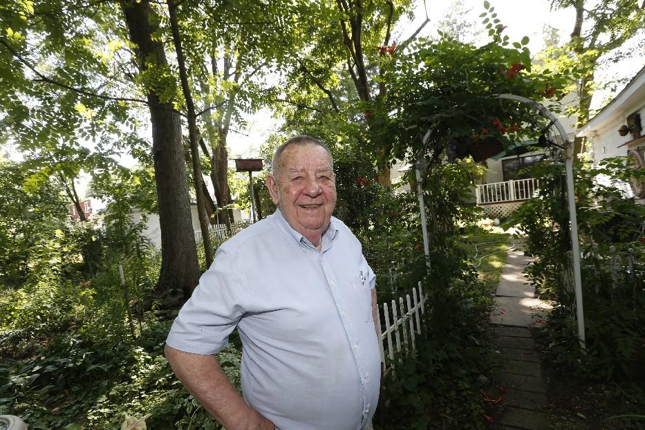 Former Amherst Town Board member William Kindel at his home.  (Robert Kirkham/Buffalo News)