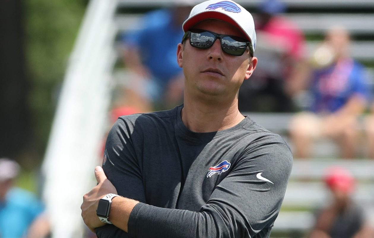 """Jeffrey Mazurek, Bills director of equipment operations, starts moving equipment to St. John Fisher College a week before training camp begins.  """"Every year, it seems like it's more and more,"""" he said. (James P. McCoy/Buffalo News)"""
