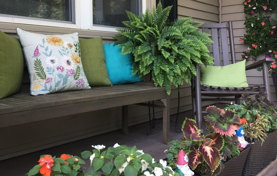 These outdoor pillows are real winners in our readers' eyes. (Photo courtesy Pamela Langowski)