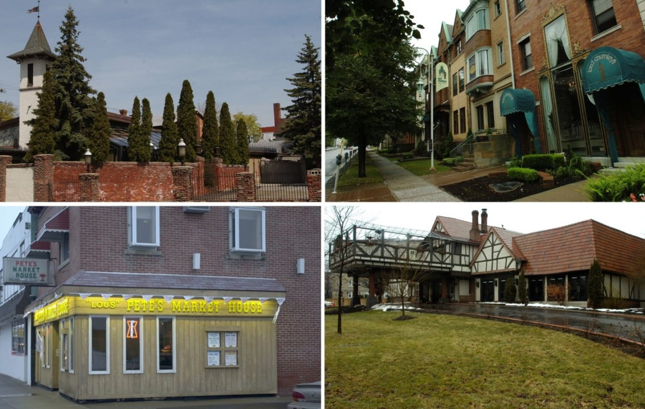 Clockwise, from top left: The Cloister, Lord Chumley's, Park Lane Restaurant and Pete's Market House. (Buffalo News file photos)