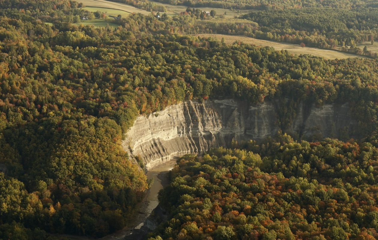 An aerial view of Zoar Valley in Cattaraugus County. (Derek Gee/News file photo)