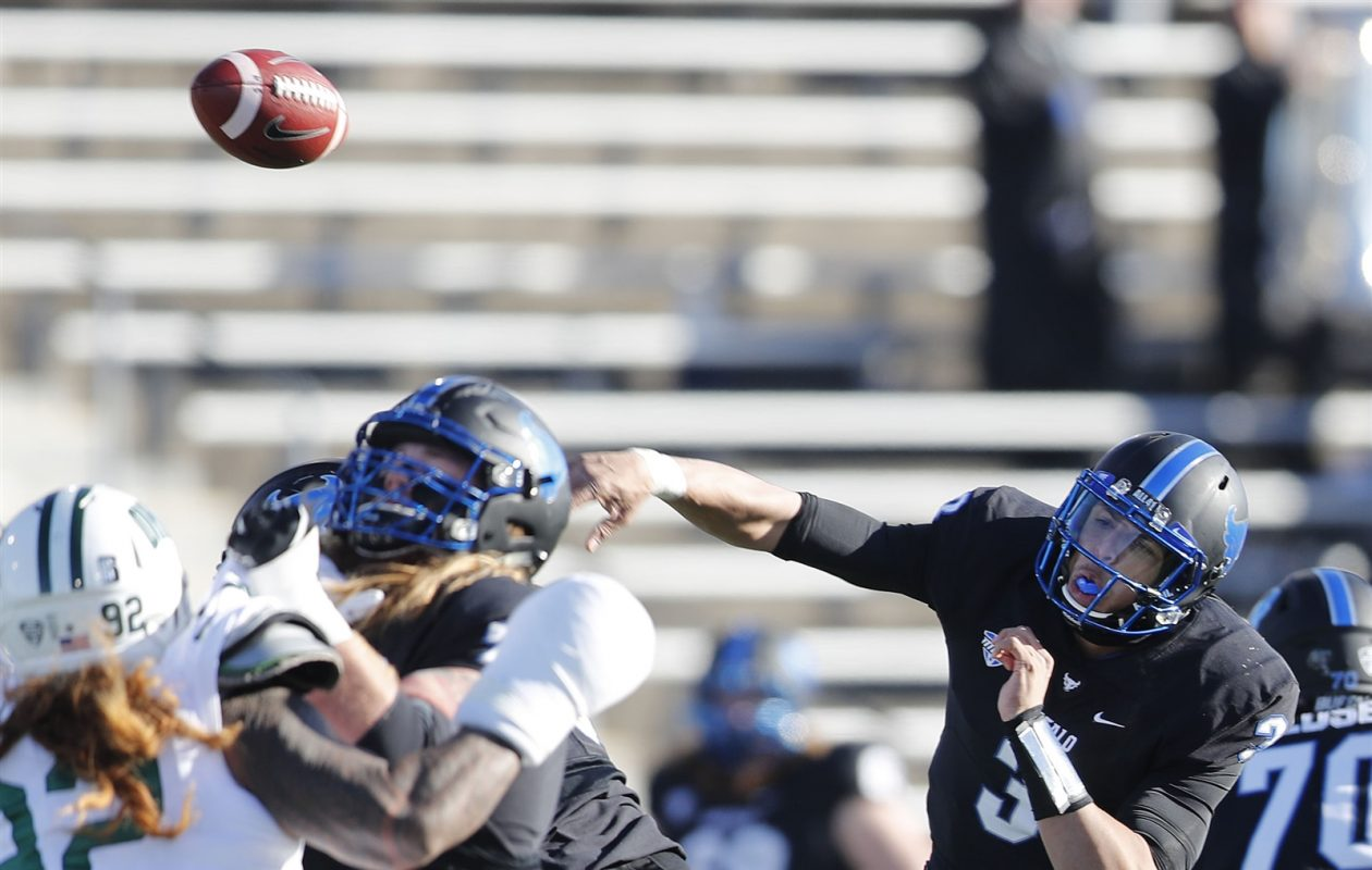 Tyree Jackson needs just 80 yards for the 5,000 passing mark at UB. (Mark Mulville/Buffalo News)