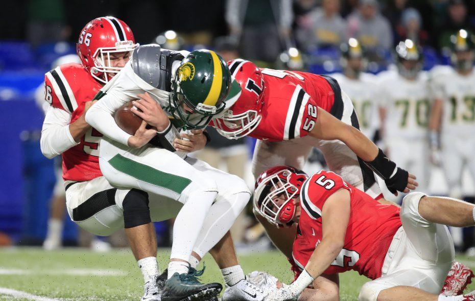 Lancaster's Conor Mahony (left) returns as does Williamsville North quarterback Joe Nusall.  (Harry Scull Jr./ Buffalo News)