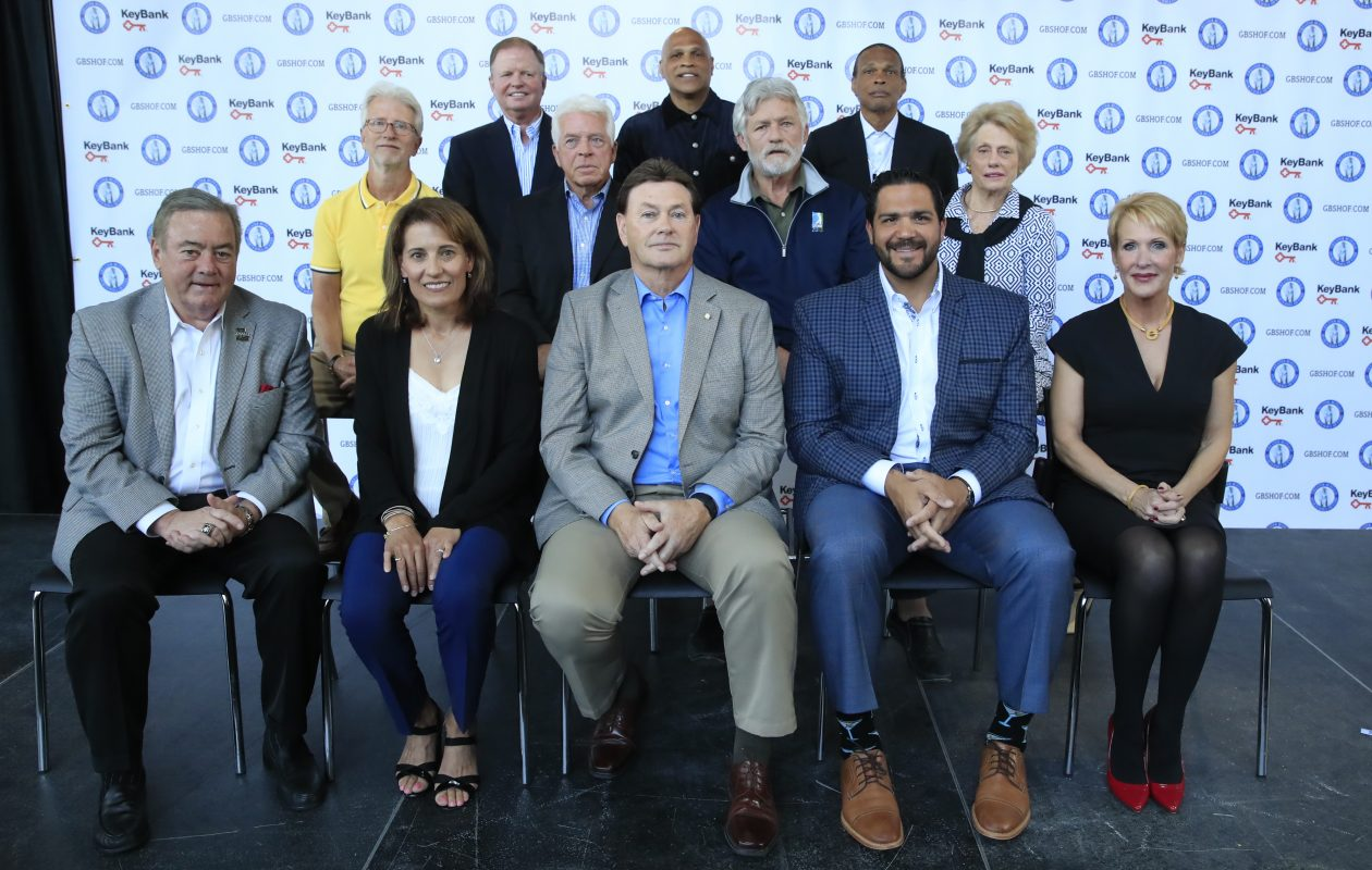 Joe Mesi, front row, second from right, will be inducted into the Greater Buffalo Sports Hall of Fame, Class of 2018. (James P. McCoy/Buffalo News)
