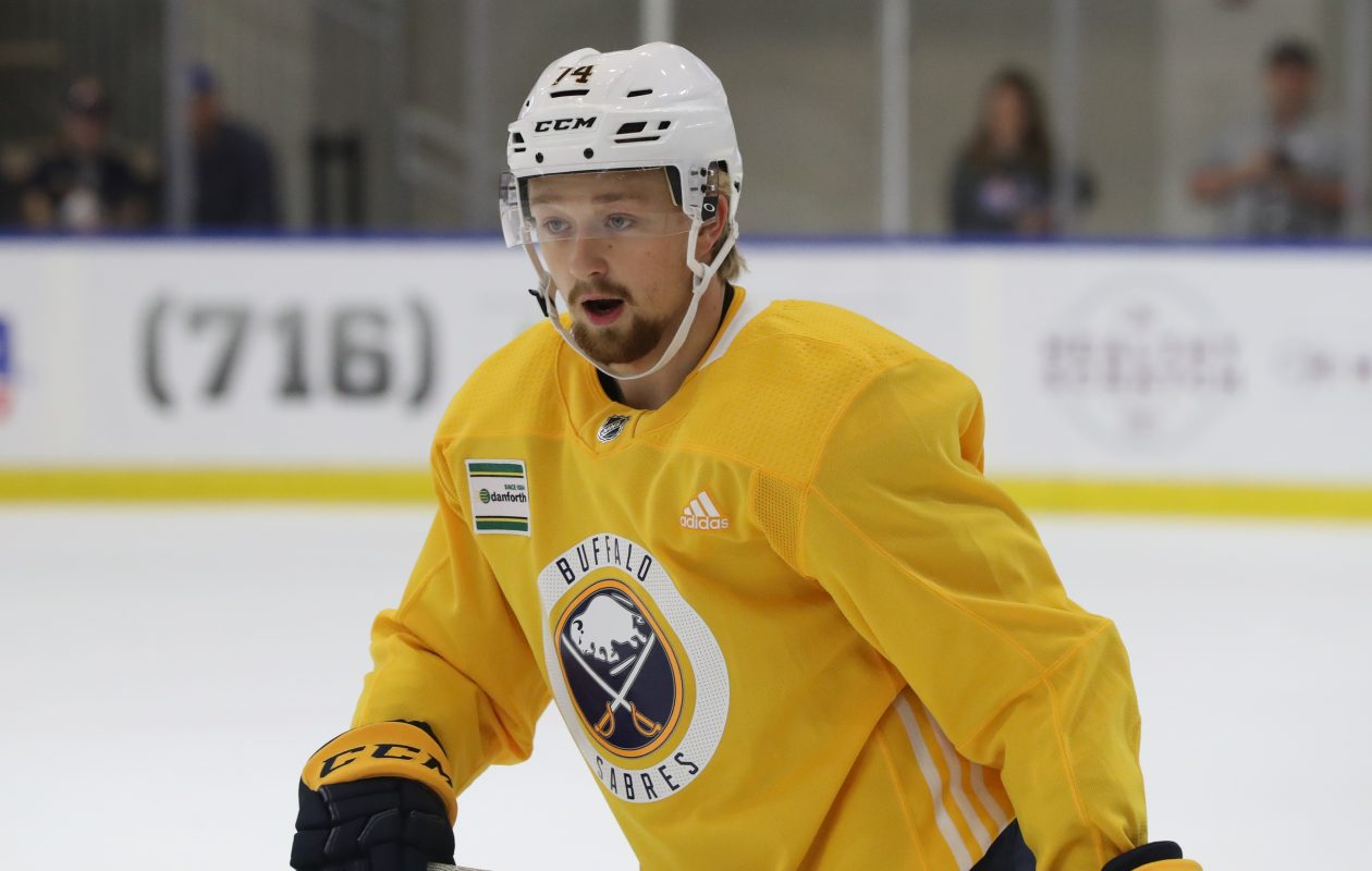 Rasmus Asplund during the 2018 Sabres Development camp  (James P. McCoy/Buffalo News)