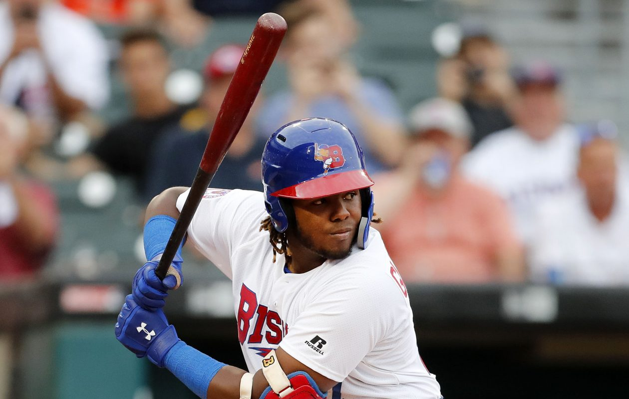 Vladimir Guerrero Jr. hit .336 for the Bisons this season. (Mark Mulville/Buffalo News)