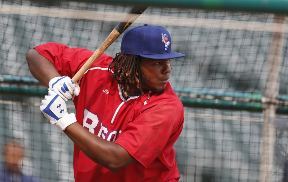 Vladimir Guerrero Jr. is hitting .412 in his short time with the Bisons this season. (Mark Mullville/News file photo)