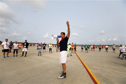 More than 350 racers showed up to the Niagara Falls International Airport for a 5K race held on the airport's runway.