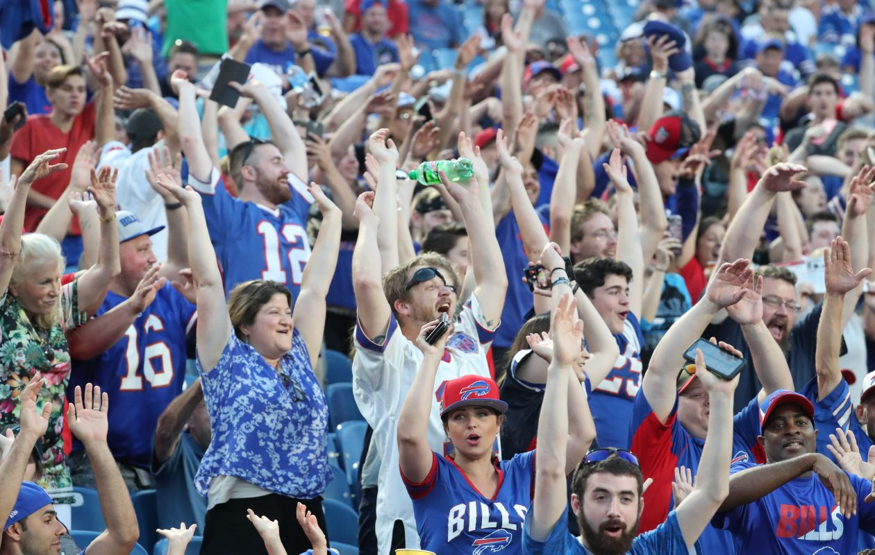 Fans cheer on the Bills at New Era Field in Orchard Park on Aug. 9. (James P. McCoy/News file photo)