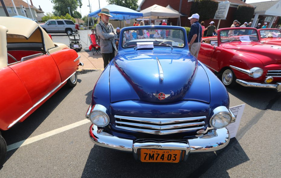 Dennis Mill's 1948 Playboy Hardtop Convertible was on display Sunday at Paddock Chevrolet in Kenmore. (John Hickey/Buffalo News)