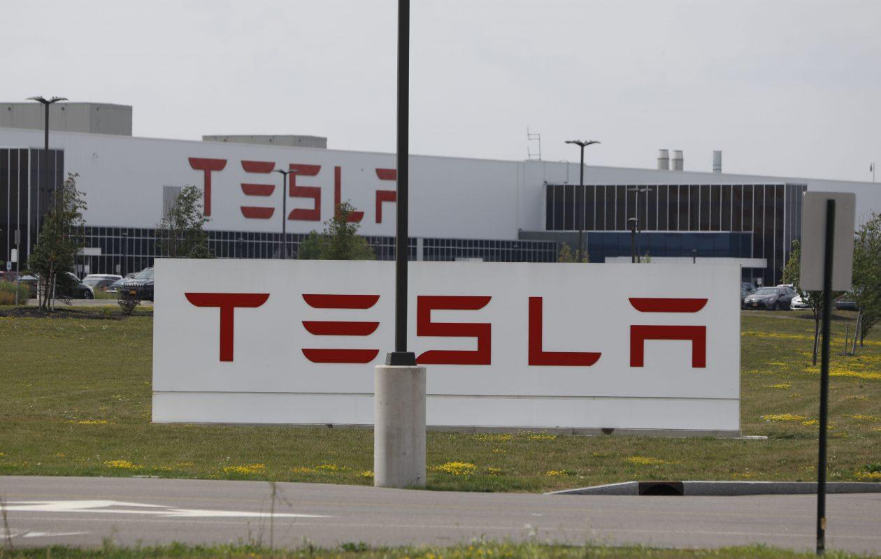 The Tesla factory at RiverBend on South Park Avenue. (Derek Gee/Buffalo News)