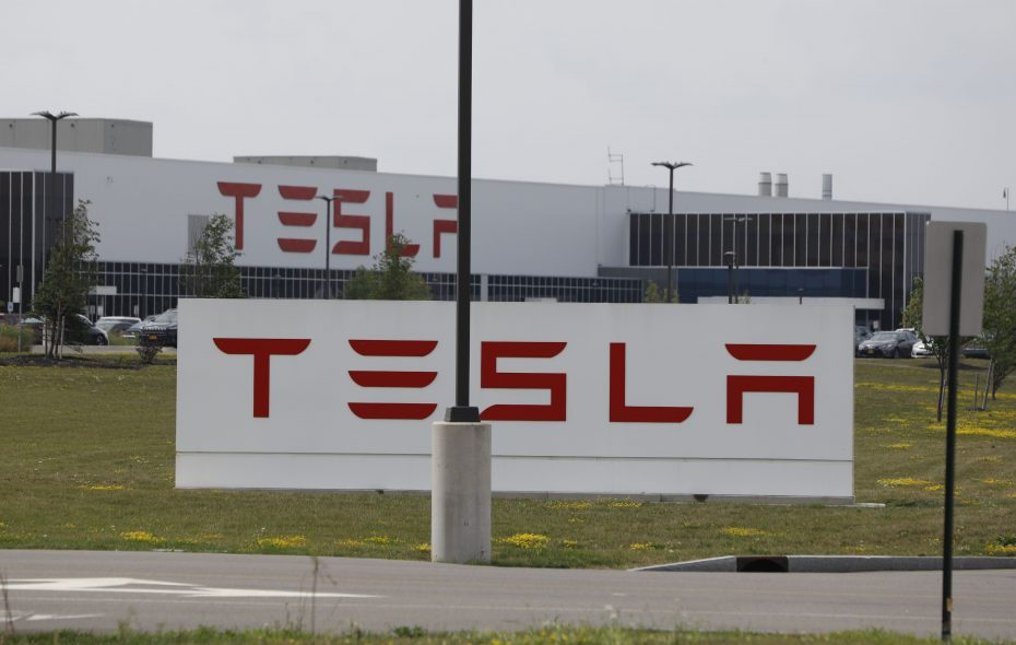 The Tesla factory at RiverBend on South Park Avenue. (Derek Gee/Buffalo News)