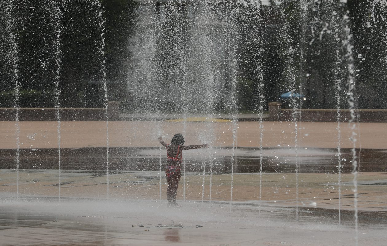 About 30 spray heads at Martin Luther King Jr. Park splash pad have been turned off. (John Hickey/Buffalo News)