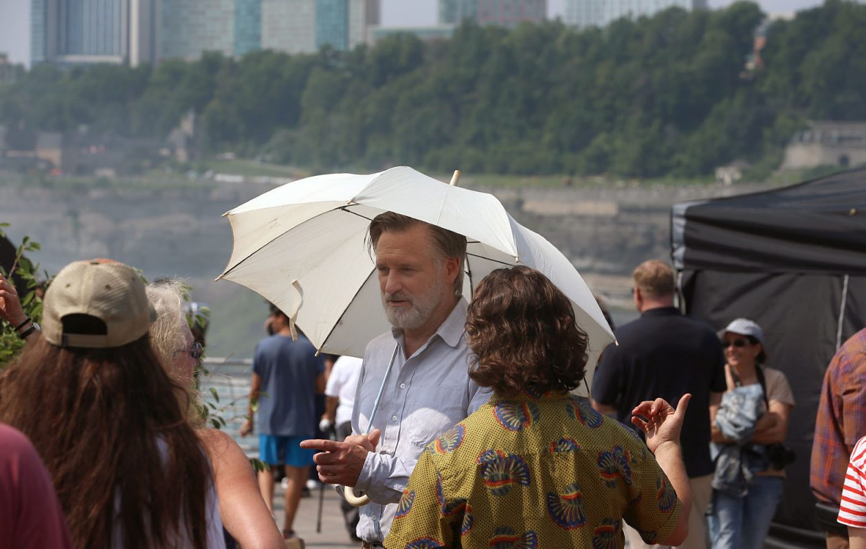 Actor Bill Pullman was at Niagara Falls State Park on Thursday, Aug. 16, 2018, as an episode of the TV show 'The Sinner' was being  filmed. (John Hickey/Buffalo News)