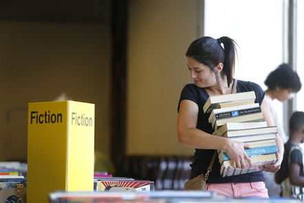 The Buffalo and Erie County Public Library's used book sale was held at the Central Library in Buffalo on Thursday, Aug. 16, 2018. The annual sale continues through Saturday.