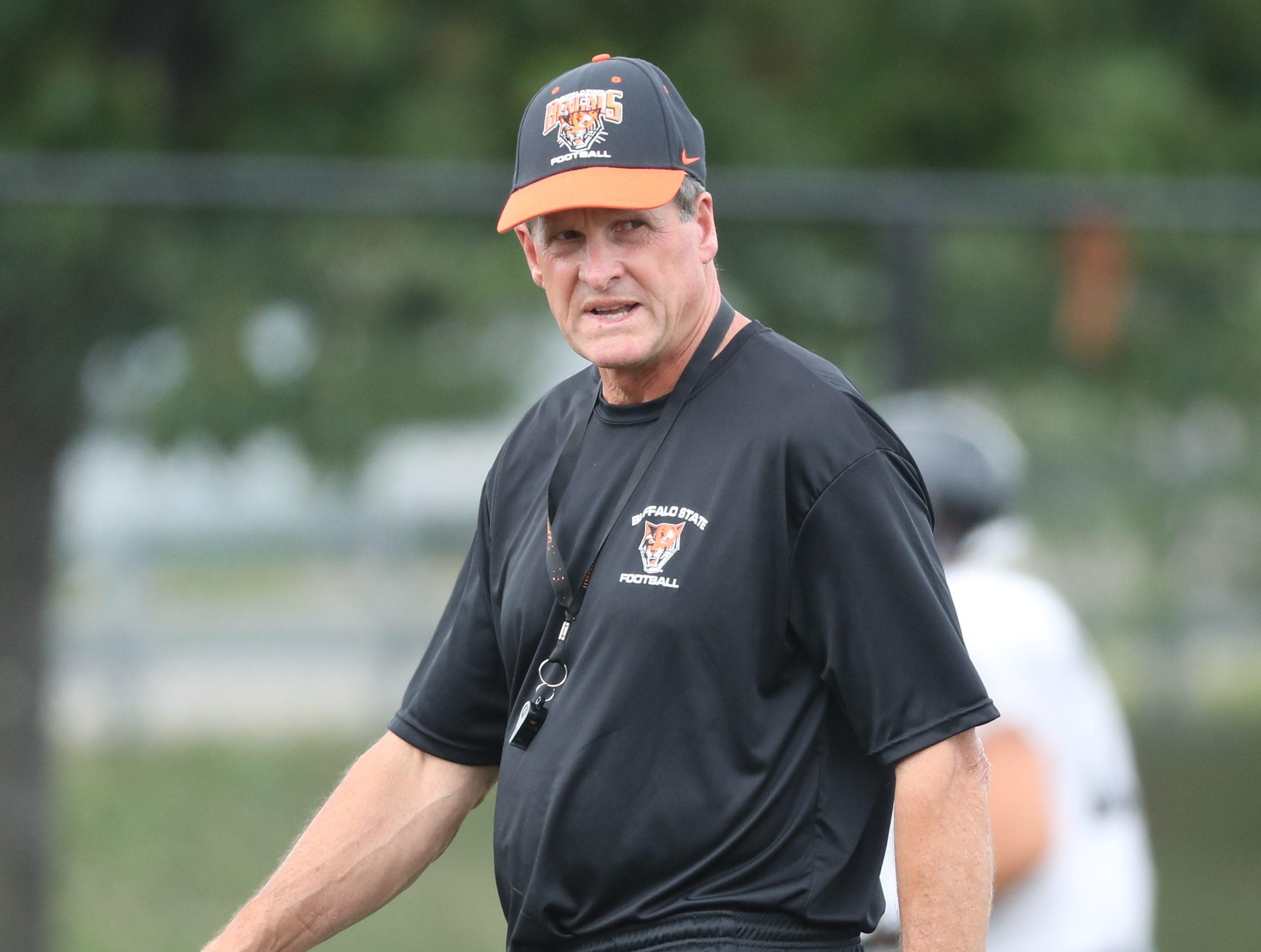 SUNY Buffalo State head football coach Jerry Boyes enters his 25th season. (James P. McCoy/Buffalo News)