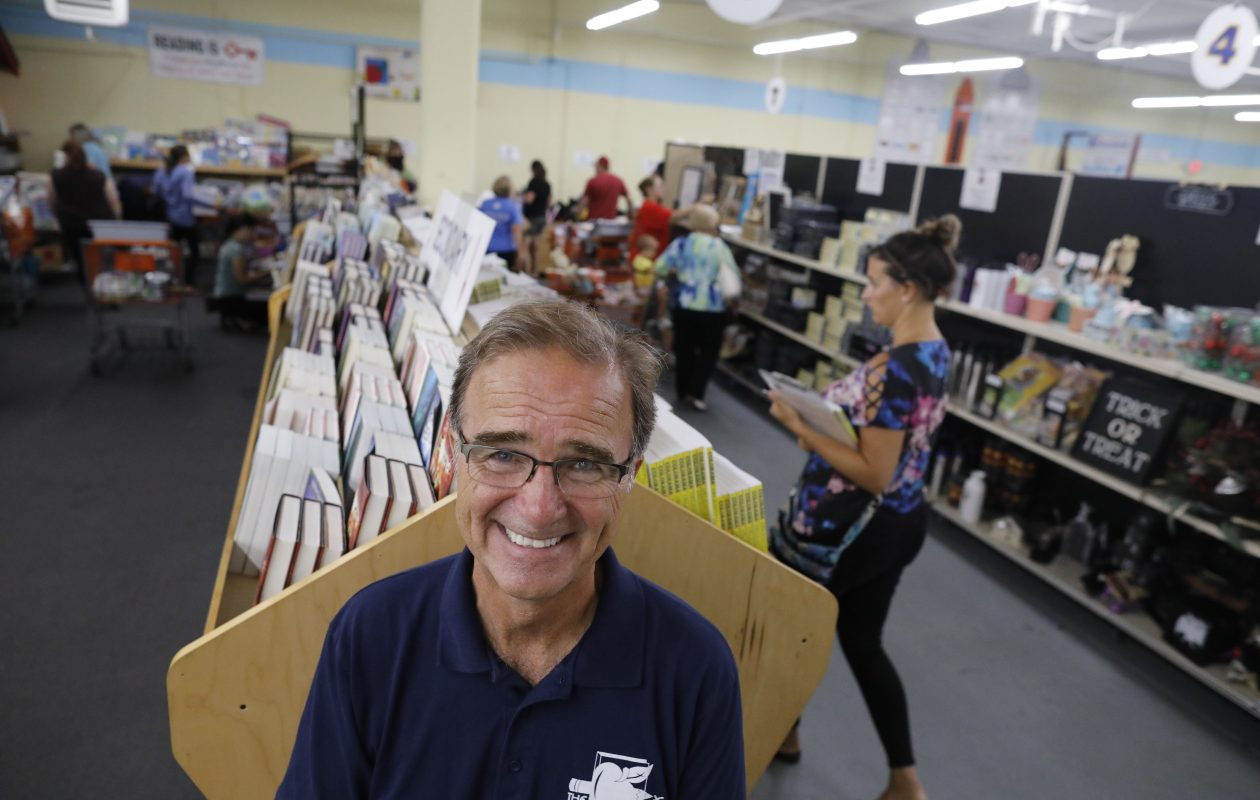 Director John Mika founded the Teacher's Desk, a nonprofit that allows area teachers from qualifying schools to pick out donated classroom supplies for free. (Derek Gee/Buffalo News)