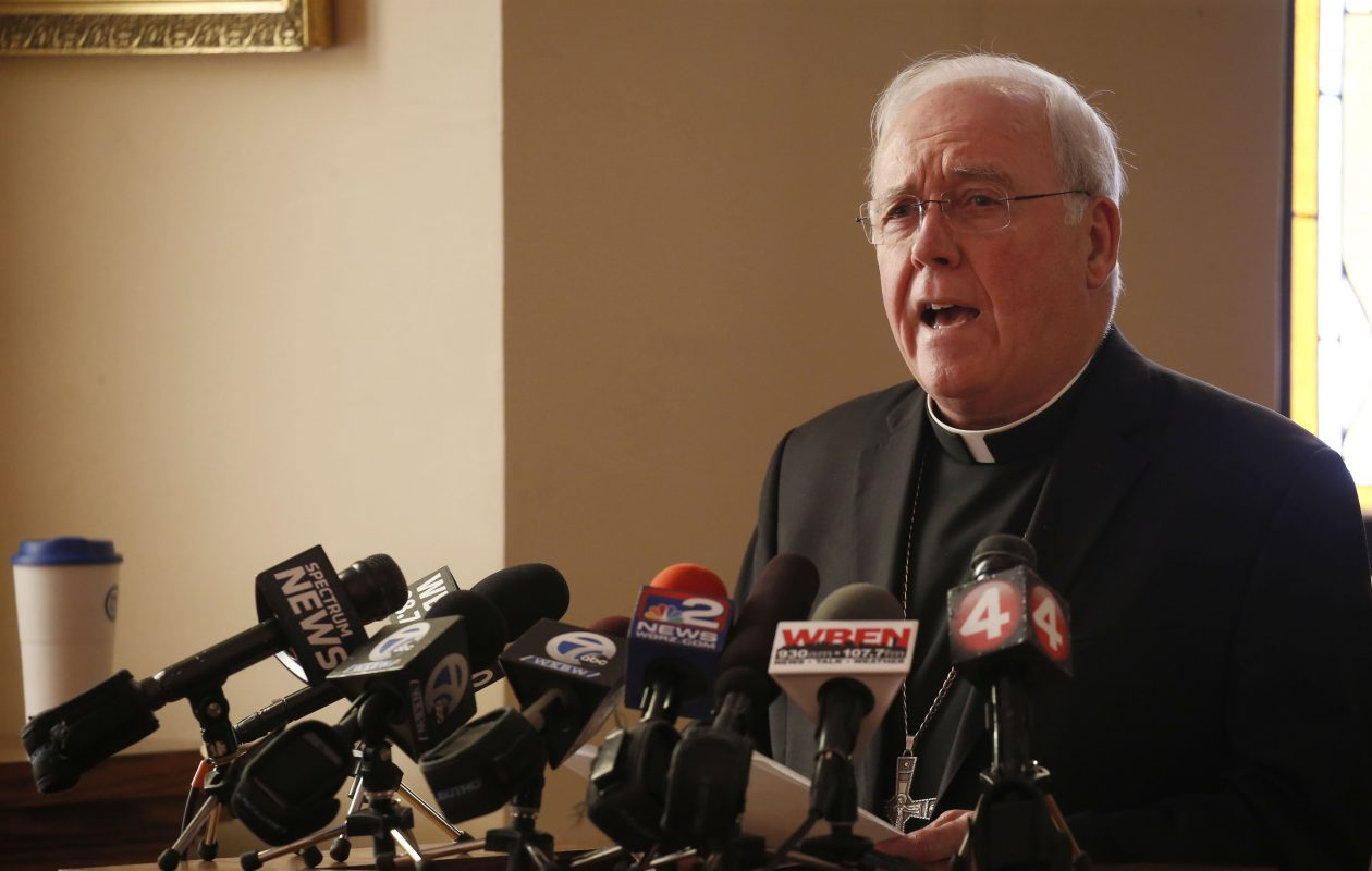 Bishop Richard J. Malone declined to be interviewed by '60 Minutes.' (Robert Kirkham/News file photo)