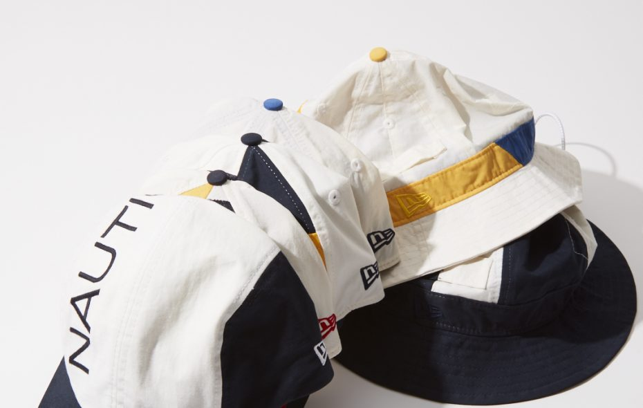 A new line of New Era Cap Co. hats made from deconstructed vintage Nautica jackets. (Contributed photo)