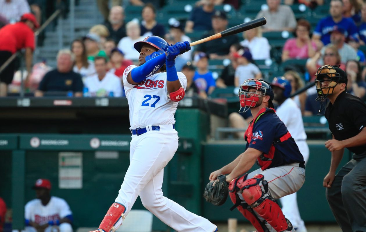 Vladimir Guerrero hit his fifth home run of the season for the Bisons. (Harry Scull Jr./Buffalo News)