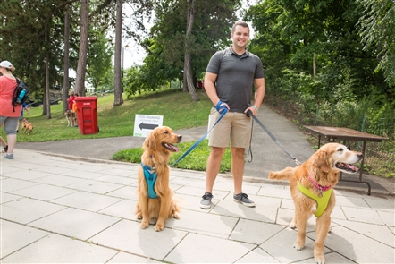 Dog owners converged on Hoyt Lake in Delaware Park for Bark in the Park, which included a dog parade, food trucks and tributes to all things canine.