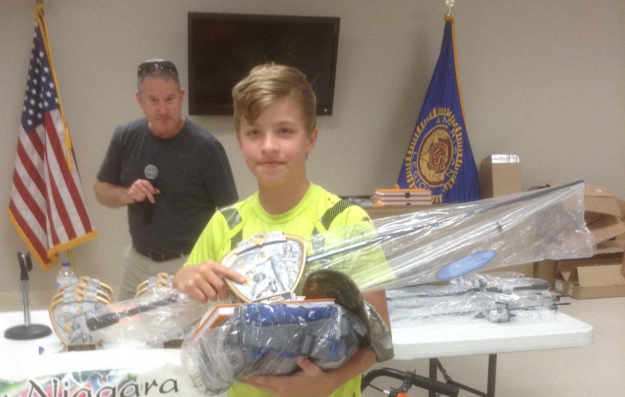 Alex Heath of Sanborn won the youth salmon division for the second straight year.