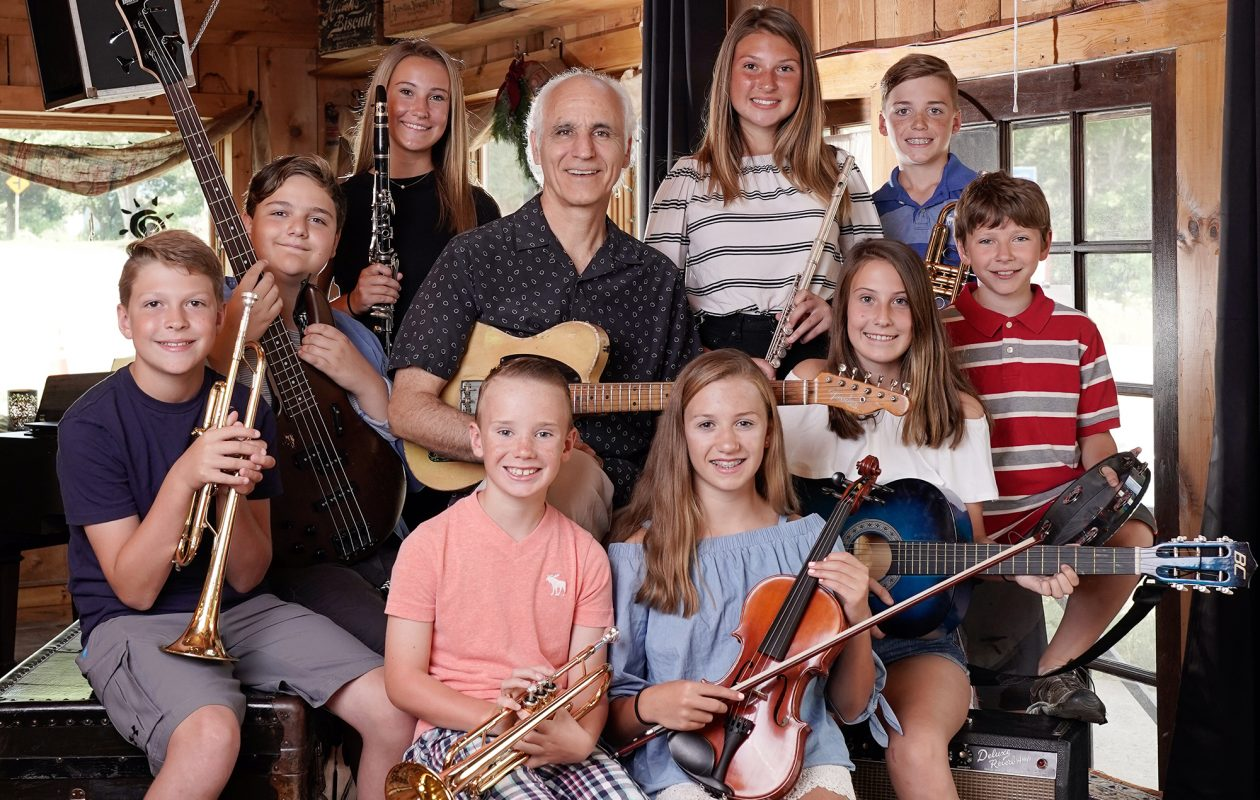 Buffalo Music Hall of Fame member Doug Yeomans, center, has been working with local kids in a former bakery-turned-performance space in West Falls, resulting in lively regular jam sessions open for the public to enjoy. (Dave Jarosz)