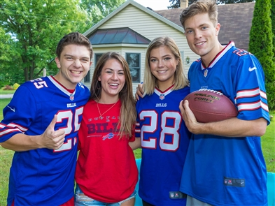 Smiles at Buffalo Bills vs. Carolina Panthers