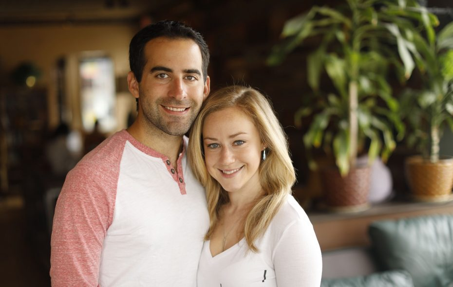 Andrew Baglini and Erica Brecher. (Derek Gee/Buffalo News)