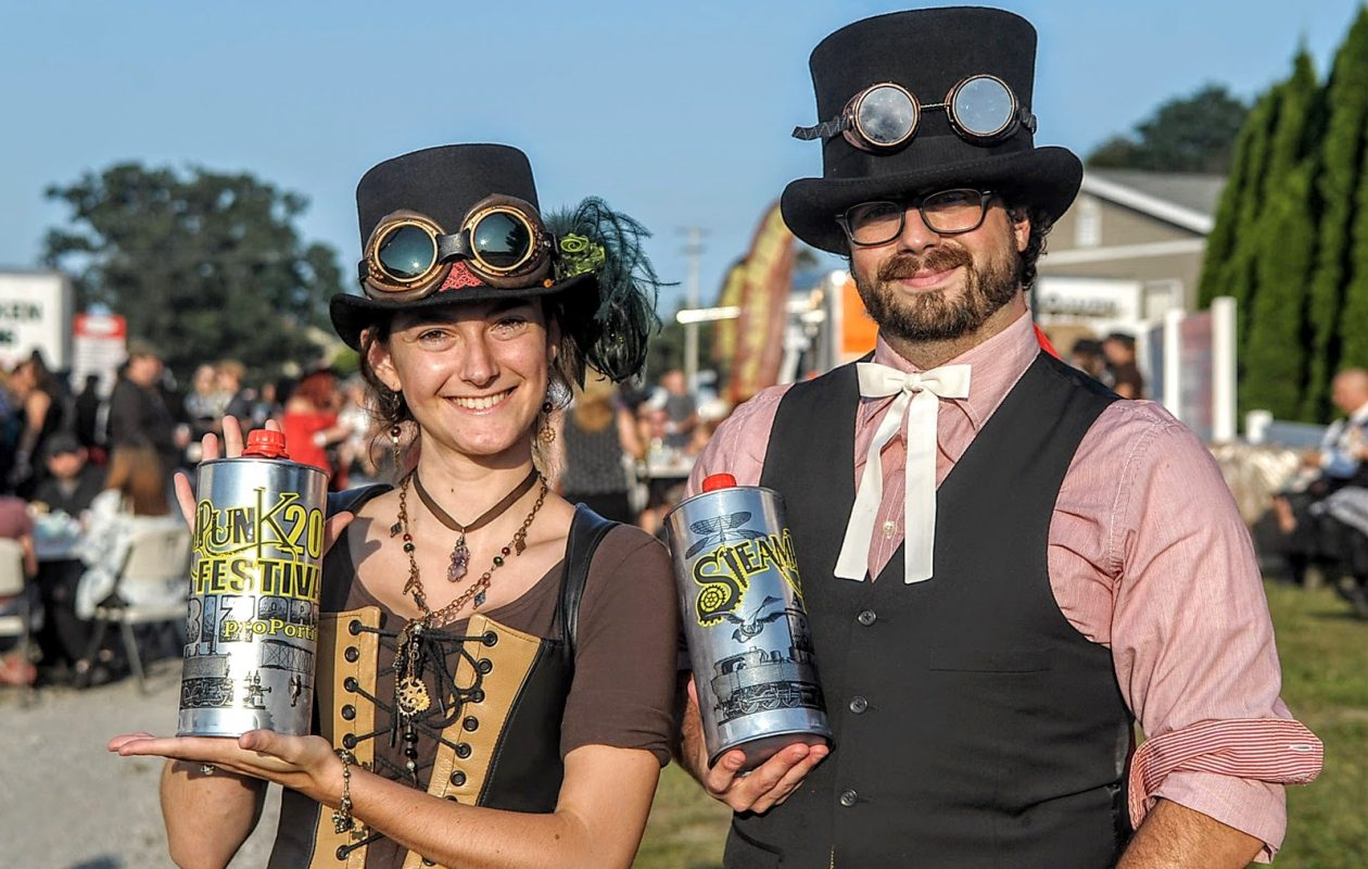 Costume-crazed Steampunk Festival at Leonard Oakes Estate Winery in Medina is among the highlights of Cider Week WNY. (Dan Cappellazzo/Special to The News)