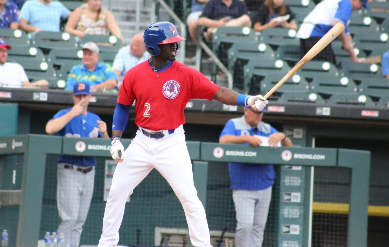 Jonathan Davis is enjoying a breakout season with the Bisons. (Photo courtesy of the Buffalo Bisons)