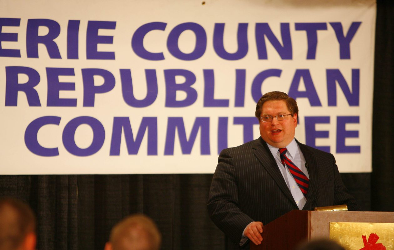 James P. Domagalski, a former Erie County GOP chairman shown here in 2009, said Monday he would not seek election to Congress in the 27th District. (Derek Gee/News file photo)