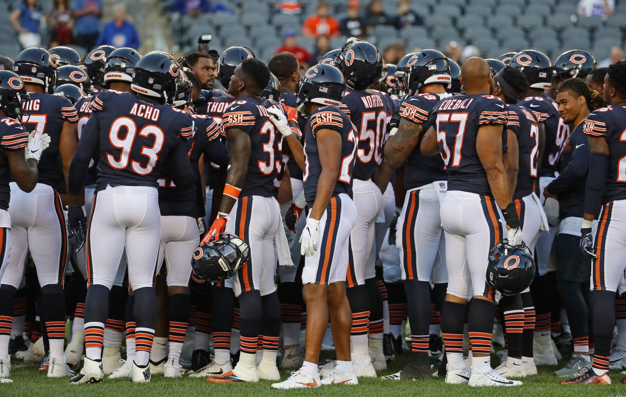 The Chicago Bears will face the Minnesota Vikings on Sunday night. (Getty Images)