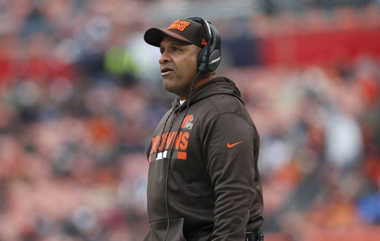 Browns coach Hue Jackson (Kirk Irwin/Getty Images)