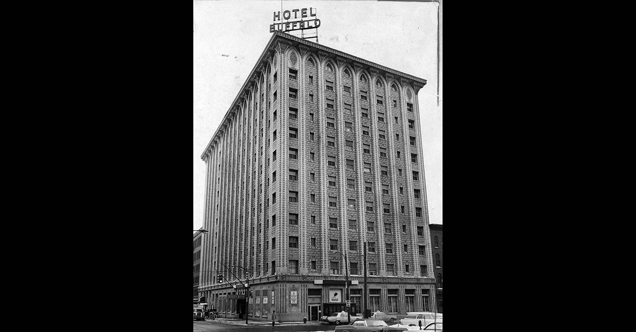 The Hotel Buffalo, which opened as the Statler, on Feb. 4, 1967 — the week it closed its doors for good. (News file photo)