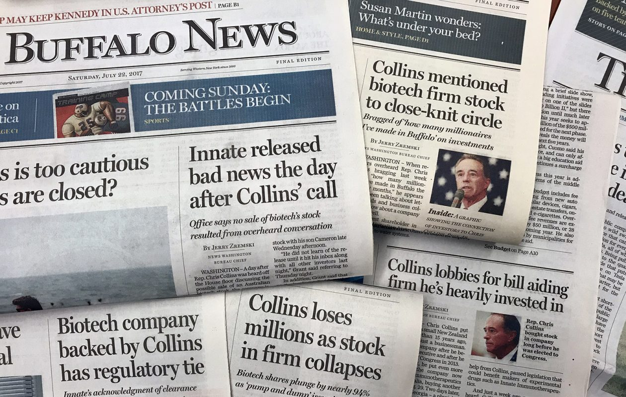 Coverage of Rep. Chris Collins in The Buffalo News.