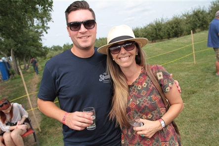 Smiles at Summer Cider Festival VIII at Blackbird Cider Works