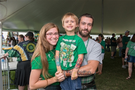 Smiles at the Buffalo Irish Festival at the Outer Harbor