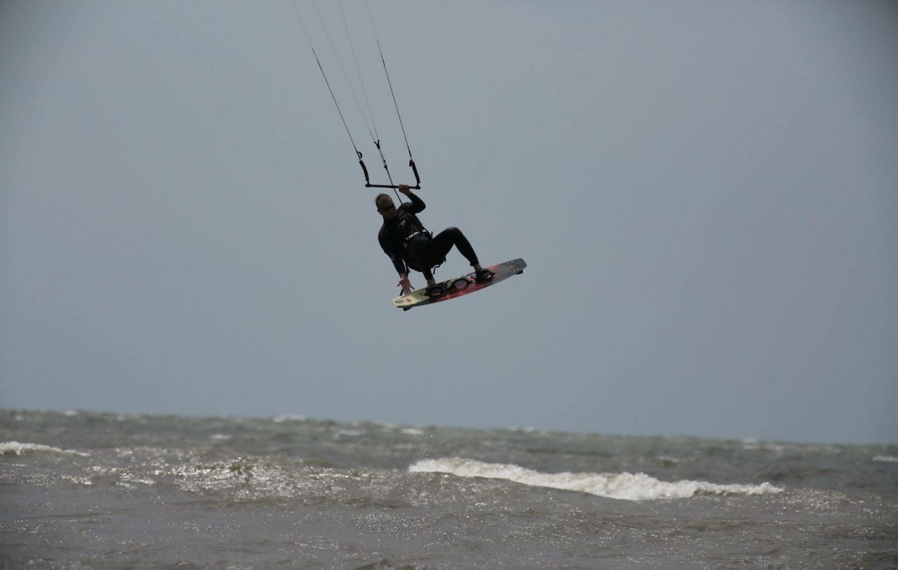 Jeffrey Biehler kitesurfing (Courtesy of Biehler family)